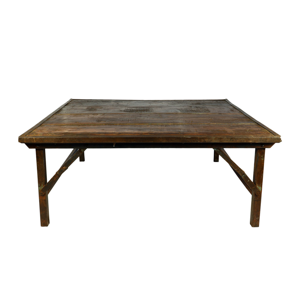 Iron Frame  Wedding Coffee Table, Natural