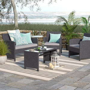 Rietta 4 Piece Sofa Set with Cushions  JJ601