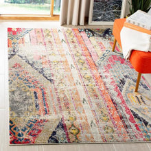 Load image into Gallery viewer, Monaco Light Gray/Multi 5 ft. x 8 ft. Area Rug KRUG025