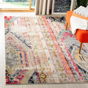 Monaco Light Gray/Multi 5 ft. x 8 ft. Area Rug KRUG025