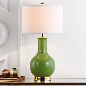 Louvre Table Lamp, Green (#K2637)