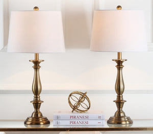 "Set of 2 - Brighton 29"" Candlestick Table Lamps, Gold (#K6480)"