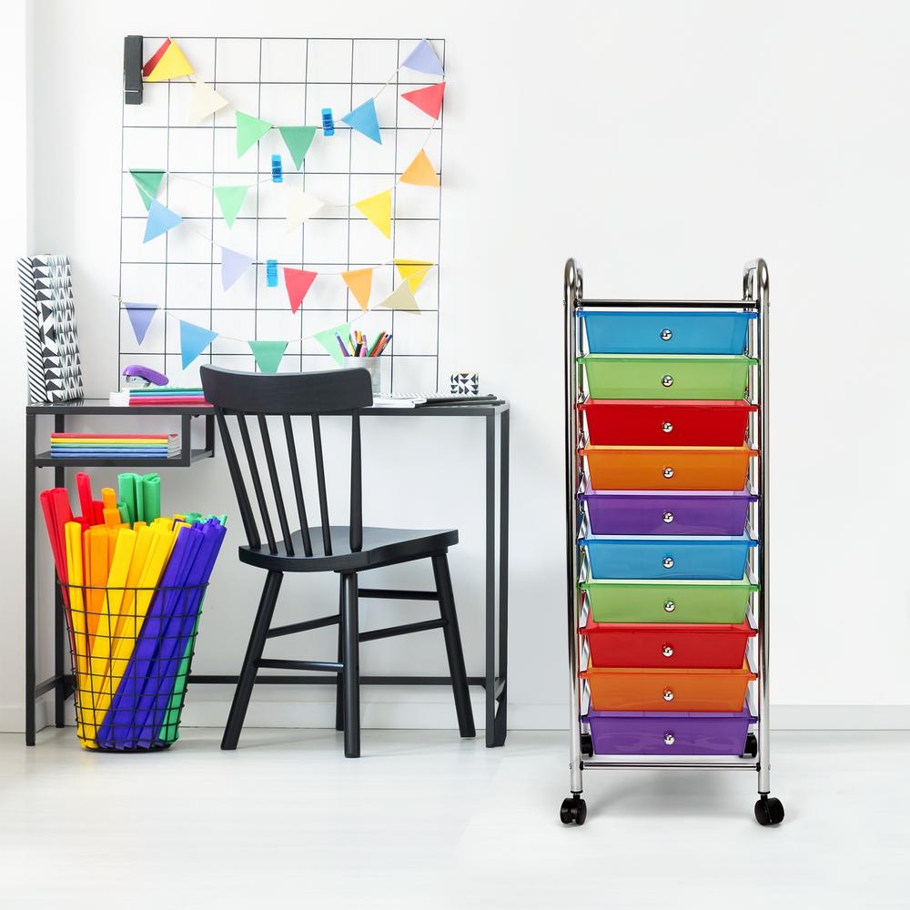 10 Drawer Storage Chest, Multi-Color (#K2542)