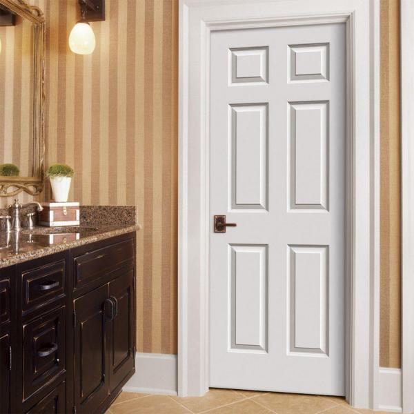 (LOT OF 29) 30 in. x 80 in. Colonist Primed Textured Molded Composite MDF Interior Door Slab