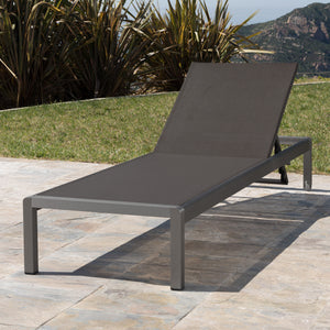 Claudia Reclining Chaise Lounge, Dark Grey (#576)