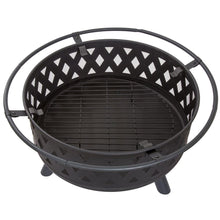 "Load image into Gallery viewer, 32"" Round Steel Crossweave Fire Pit  #SA745"