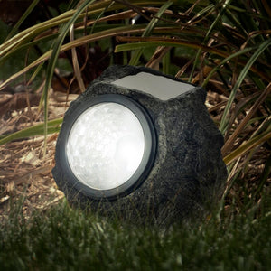 Solared Powered LED Rock Spotlights (Set of 4)  #SA654