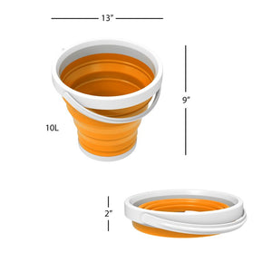 Orange Wakeman Outdoors 10L Collapsible Bucket  #SA656