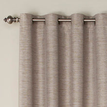 Load image into Gallery viewer, Mattie Solid Blackout Thermal Grommet Curtain Panels (Set of 2)  #SA668