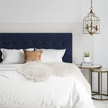 Load image into Gallery viewer, Blue Upholstered Headboard - Queen  #SA677