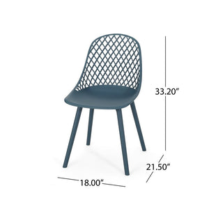 Teal Kenyon Outdoor Patio Dining Chairs (Set of 2)  #SA717