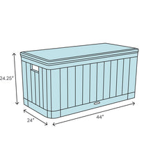 Load image into Gallery viewer, Outdoor 80 Gallon Resin Plastic Deck Box  #SA726