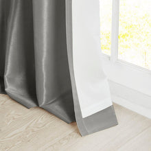 Load image into Gallery viewer, Charcoal Rivau Solid Regular Tab Top Single Curtain Panels (Set of 5)  #SA733