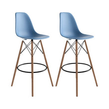Load image into Gallery viewer, Blue Alyssa Bar Stools (Set of 2)  #SA821
