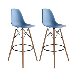 Blue Alyssa Bar Stools (Set of 2)  #SA821