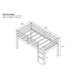 Schlemmer Gray Twin Loft Bed  #SA833