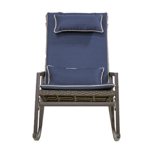 Tremberth Outdoor Wicker Rocking Chair with Cushions  #SA888