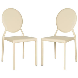 Warner Buttercream Bonded Leather Dining Chairs (Set of 2)  #SA902
