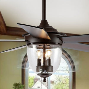 "52"" Kelso LED Ceiling Light Fan  #SA919"