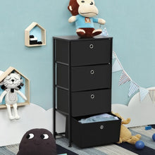Load image into Gallery viewer, Black 4-Tier Fabric Dresser  #SA972
