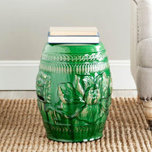 Load image into Gallery viewer, Chinese Dragon Green Ceramic Garden Stool *As Is*