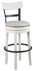 SET OF 2 Valebeck Linen Tall Upholstered Swivel Bar Stool #CR2068 (2 boxes)