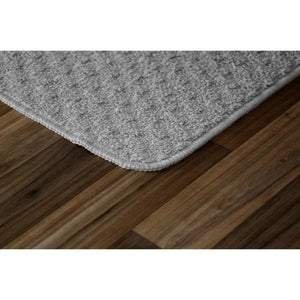"2 Piece Kitchen Mat Set, Silver - 30"" x 18"" + 40"" x 24"" (#K6476)"