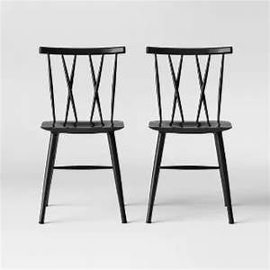 Set of 2 Becket Metal X Back Dining Chair 7327