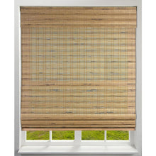 "Load image into Gallery viewer, Cordless Light-Filtering Bamboo Woven Roman Shade, Tuscan - 22.5"" x 74"" (#K1421)"