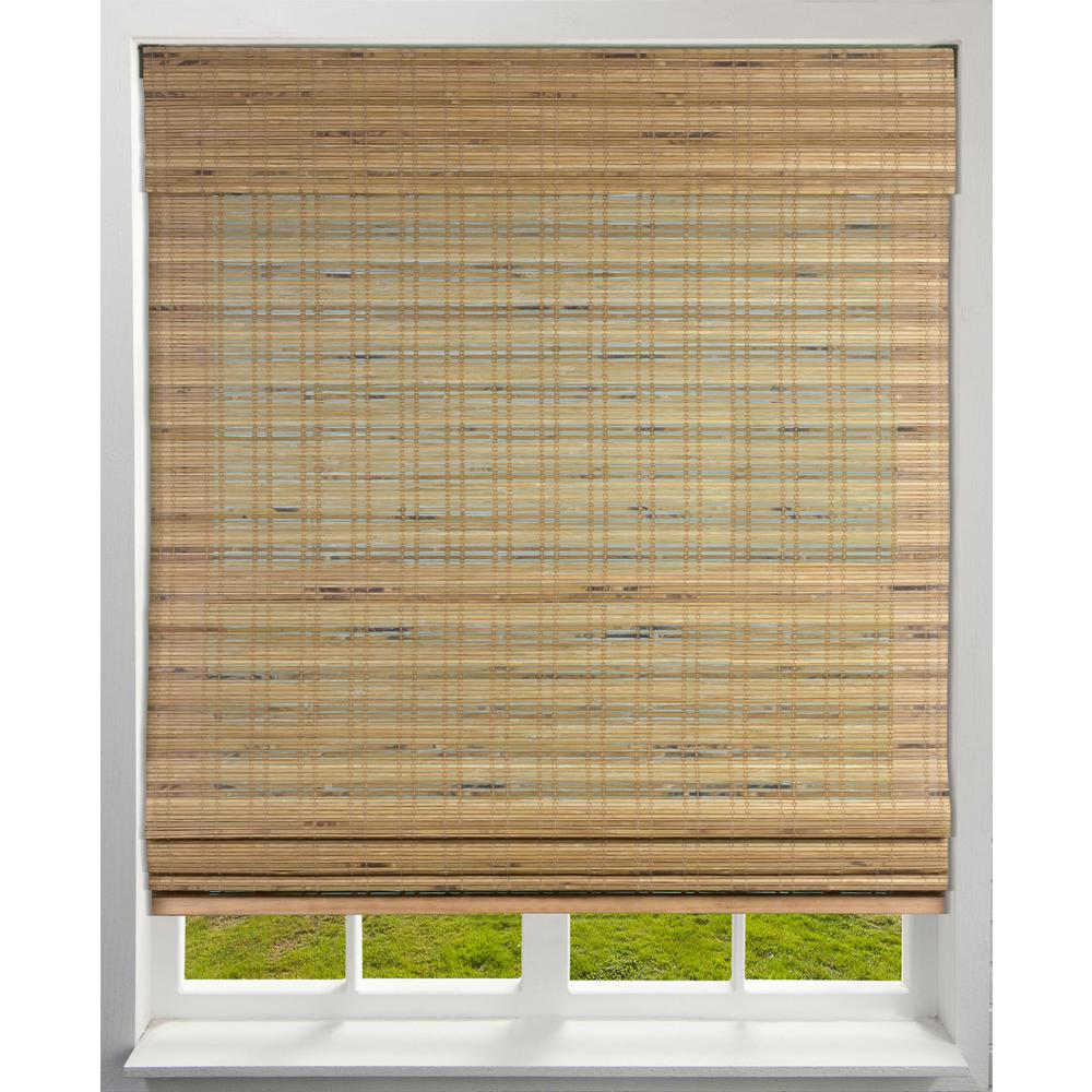 Cordless Light-Filtering Bamboo Woven Roman Shade, Tuscan - 22.5