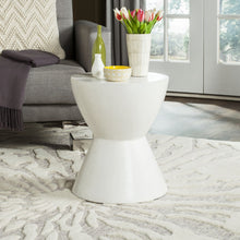 Load image into Gallery viewer, Athena Round Stone Indoor/Outdoor Accent Table, Ivory *AS IS* (#K2582)