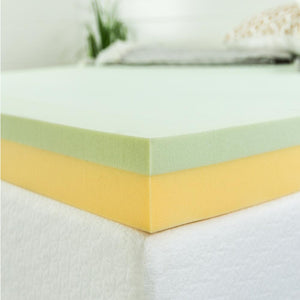 "Green Tea 4"" Memory Foam Mattress Topper - Queen (#K2227)"