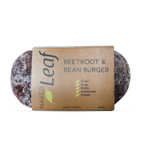 Naked Leaf Beetroot & Bean Burger