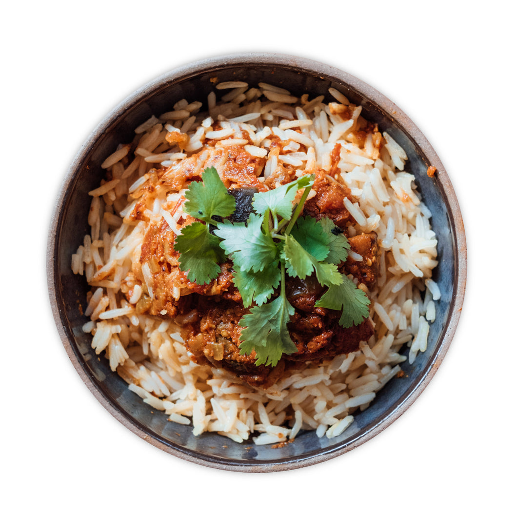 Aubergine Indian Curry - Frozen Meal (Vegan)