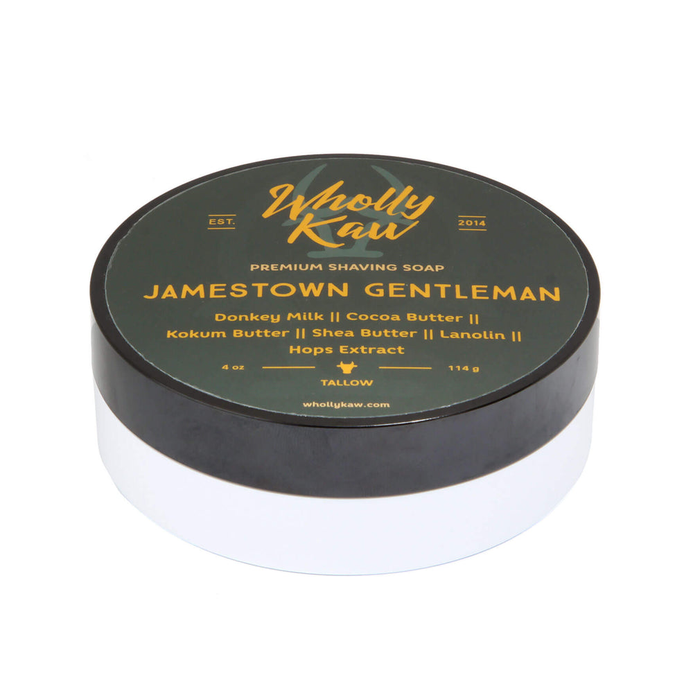 Wholly Kaw Jamestown Gentleman Shaving Soap
