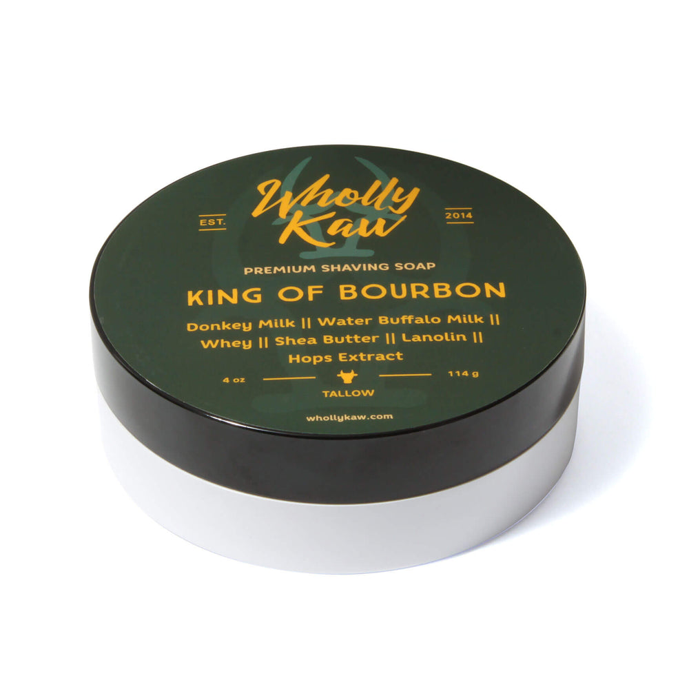 Wholly Kaw King Of Bourbon Shaving Soap
