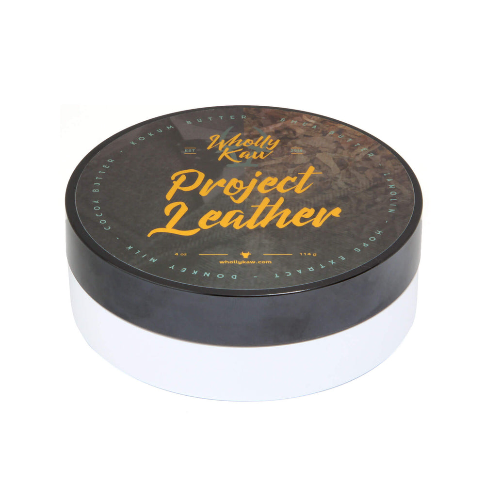 Wholly Kaw Project Leather Shaving Soap