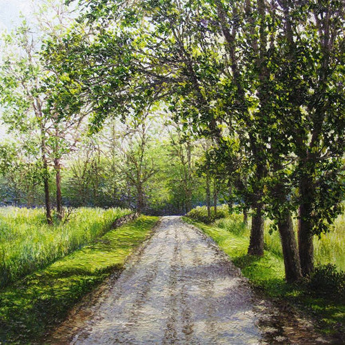 August Road original oil painting