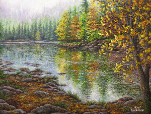 River Reflections original oil painting