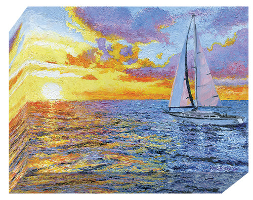 Sailing Into The Sun 12 X 16 Print