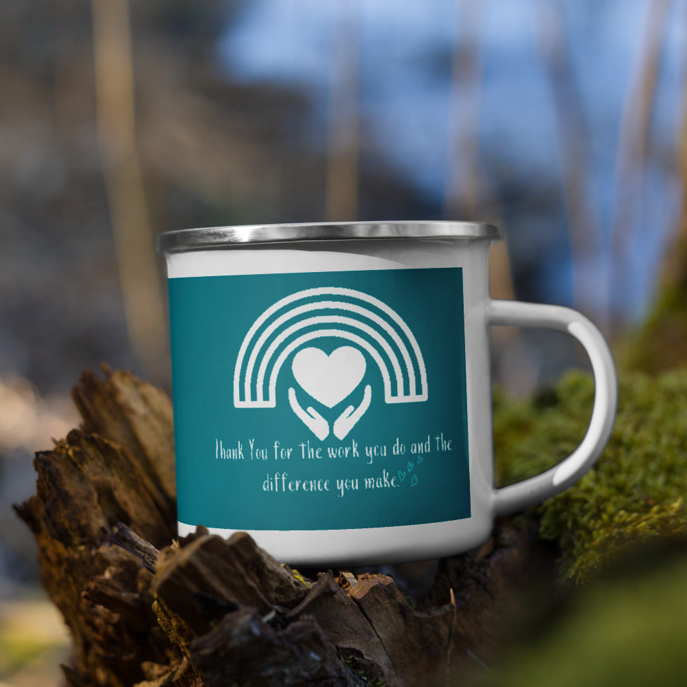 Thank you for the work that you do Keyworker Enamel Mug