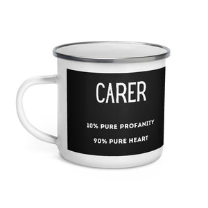 Carer Pure heart Enamel Mug