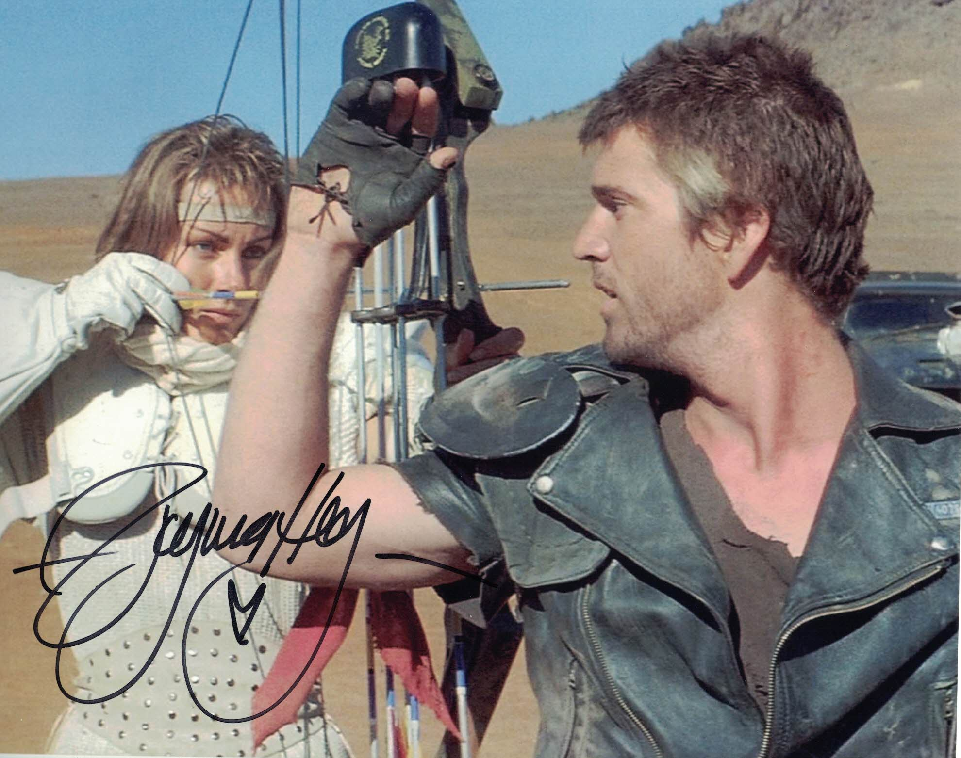 VIRGINIA HEY - Warrior Woman in Mad Max hand signed 10 x 8 photo