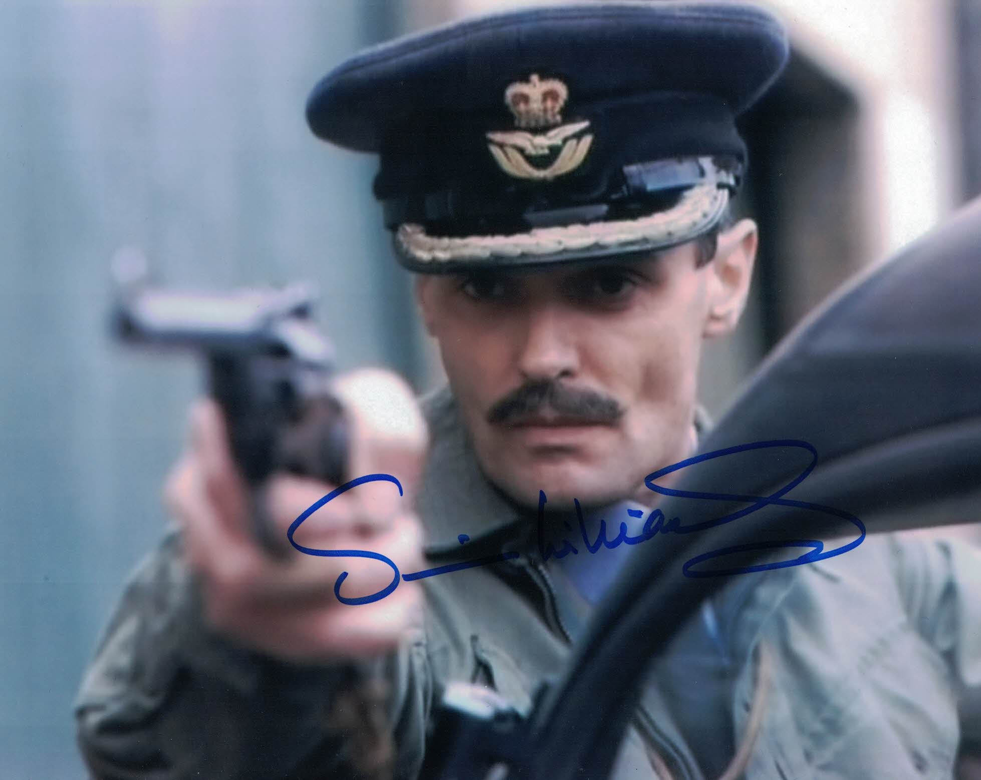 SIMON WILLIAMS - Group Cpt Gilmore in Doctor Who hand signed 10 x 8 photo