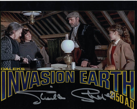 SHEILA STEAFEL - Young Woman Daleks Invasion Earth- Doctor Who hand signed 10 x 8 photo