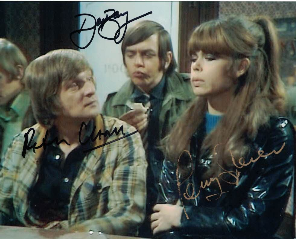 DAVID BARRY, PENNY SPENCER & PETER CLEALL - Please Sir triple signed