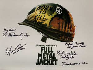 FULL METAL JACKET 16 x 12 signed by members of cast and crew x 5