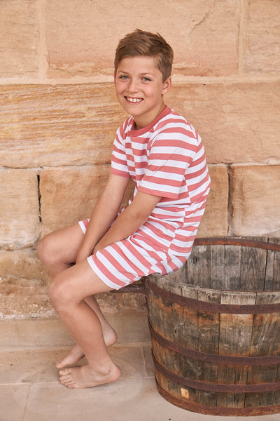 Classic Summer Stripe Pjs in Red