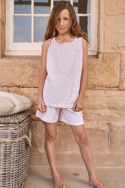 Girl's Summer Leopard Pyjamas