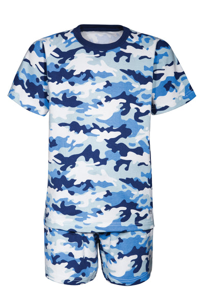 Boy's Summer Camo Print Pyjamas